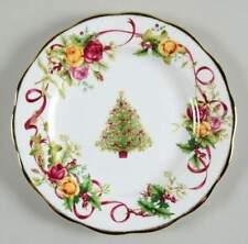 Royal Albert OLD COUNTRY ROSES CHRISTMAS TREE Salad Plate 9508140