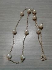 """14k 585 Gold Necklace, cultured Pearls, 16"""", 4.3g weight, great condition"""