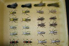 24 Foam Terrestrial Assortment  Army Ant Chernobyl Ant Grasshopper Bass Flies
