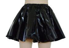 Shiny Black PVC Circle Skirt / Skater Mini Vinyl / L XL XXL, Glossy PVC Roleplay