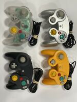 Nintendo Gamecube Controllers 4 Pack Lot Clear Orange Black Silver Tested Works