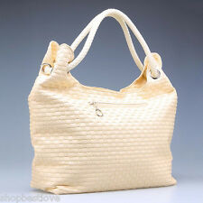 Ladies' Hobo PU Leather Handbag/Shoulder Bag with Purse - [Beige]