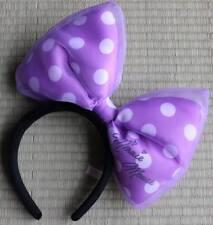 Tokyo Disney Resort HEAD ACCESSORY PURPLE large lace bow MINNIE MOUSE Autograph