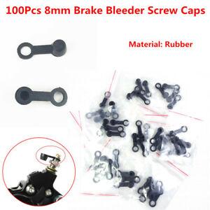 100x Brake Bleeder Screw Cap Grease Fitting Oil Drain Pump Rubber Dust Cover 8mm
