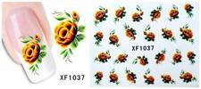 Nail Art Water Transfer Sticker Decal Stickers Pretty Flowers Yellow Xf1037