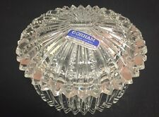 Vintage GORHAM Full Lead Crystal Trinket Box Original Sticker WEST GERMANY