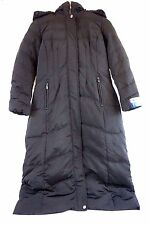 1 Madison NWT Women's Luxe Down/ Puffer Maxi Long Coat Faux Fur Large XL W12782