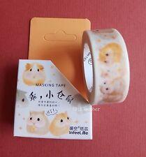 Little hamster sticker decoration Diary album Masking tape Washi Tape 15mmX7m