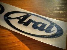 2x Arai Carbon look Motorcycle Helmet Sticker Decal TT
