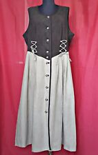 AUTHENTIC TYROL OKTOBERFEST DIRNDL LINEN BLEND  WOMENS DRESS-SIZE:US 16/EU 44