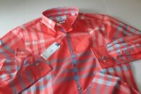 Southern Tide Shirt Sail Gate 2171 Sunset Red Trim Fit New LS Large L