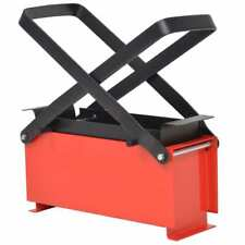 vidaXL Paper Log Briquette Maker Steel 34x14x14cm Black and Red Press Machine