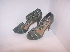 Womens Green Forever Selected by Paula Abdul Open Toe Stilettos size 10M NWOB