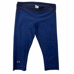 Under Armour Women's Size XL Blue Geometric Heat Gear Capri Workout Leggings