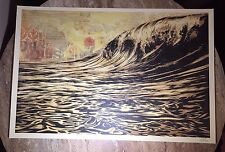 "OBEY Giant Shepard Fairey ""Dark Wave"" Lithograph Signed"