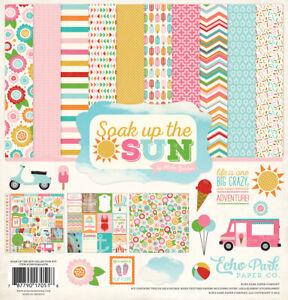 Echo Park - Soak Up The Sun 12x12 Scrapbook Kit Papers + Stickers Summer Beach