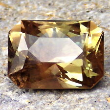 LIME GREEN-PEACHY SCHILLER OREGON SUNSTONE 9.85Ct FLAWLESS-LARGE-FOR RARE JEWELR