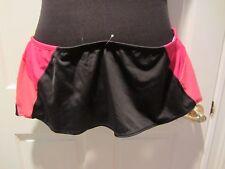 NWT NIKE Swimsuit Bottom Skirt Black with Pink & Orange Size 16 MSRP $40