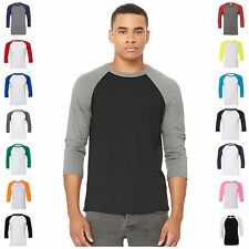Mens Womens 3/4 Sleeve Raglan Baseball Triblend Casual T Shirt Tee Jersey Top