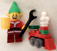 NEW LEGO CHRISTMAS ELF MINIFIG w/toy holiday train figure santa claus minifigure