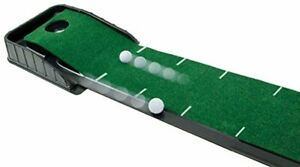 Automatic Golf Putting System Ball Indoor Practice Black Green Mat Plastic New
