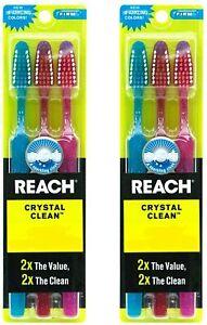 6 Pcs Reach Crystal Clean Toothbrush Firm Bristles