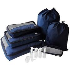 Packing Cubes & Toiletry Travel Bottles Set Suitcase Luggage Organiser Bags Wash