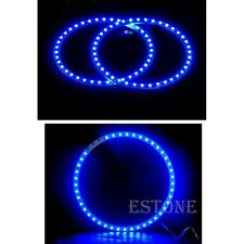 2pcs 120mm Blue 39 Led SMD Angel Eyes Car Head Light Halo Rings Universal