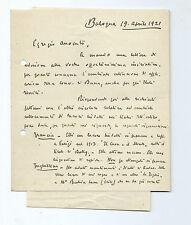 Autografo Commediografo Lorenzo Ruggi Istituto Nazionale Dramma Sem Benelli 1921