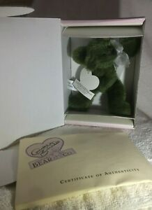 "Annette Funicello Mintbeary Slush  6"" Mohair Bear From Bean Bag Series MIB W/COA"