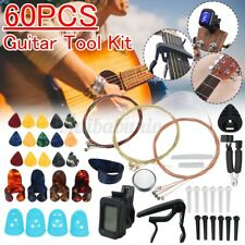 More details for 60pcs guitar tool changing strings pick capo winder&cutter tuner accessories kit
