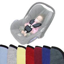 BAMBINIWELT 3tlg. SET Gurtpolster & Schrittpolster Babyschale UNIVERSAL FROTTEE