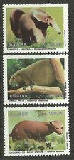 Brasil. 1988. mamíferos en peligro Set. Sg: 2317/19. menta nunca con bisagras.