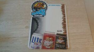 1990's IHL Hockey Cleveland Lumberjacks Miller Beer Counter Stand-Up Display EX