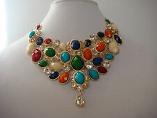 Amrita Singh Crystal South Fork Crystal Statement Necklace NKC 768 New