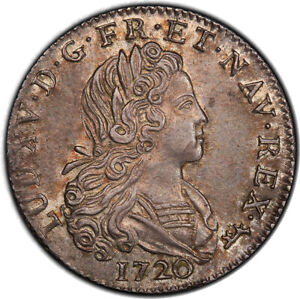 1720-A 1/3 Ecu French Colonies PCGS MS63