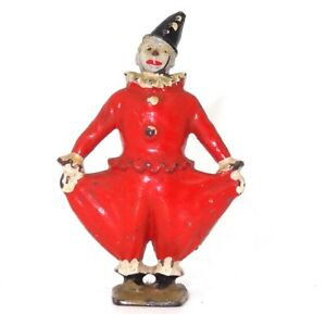 BRITAINS NO. 358B PRE-WAR CIRCUS CLOWN WITH RED BAGGY PANTS - RARE!