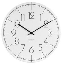 Karlsson Wanduhr Blade Numbers weiß Designer Uhr Wohnzimmer Quarz 40 cm weiss