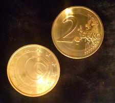 Commémorative 2 Euro Slovénie 2013, Grotte Postojna, dorée à l'or fin, UNC