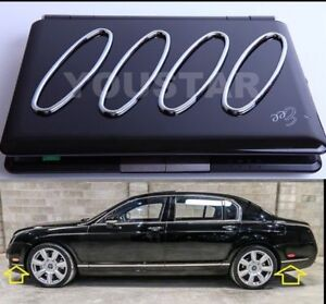 US STOCK 4 Reflector CHROME Surrounds for Bentley Continental Flying Spur GT GTC
