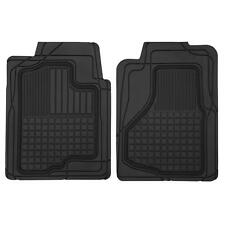 Motor Trend Trim-to-Fit Heavy Duty Car Floor Mats for Auto All Weather Black
