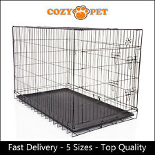 Dog Cage by Cozy Pet Puppy Crates 5 Sizes S M L XL XXL Cat Carrier Transport New
