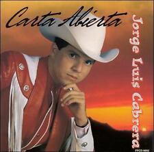 Carta Abierta by Jorge Luis Cabrera (CD, Oct-1999, Fonovisa)