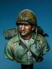 1/10 BUST Resin Figure Model Kit US Soldiers Marine WWII WW2 Unpainted Unassambl