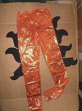 NWT Metallic Foil Dragon Leggings Sea Creature 2 Clrs Green Orange Dance costume