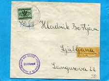 1944 LUBIANA - OCCUPAZIONE TEDESCA - S.TASSE REGNO c.25 SOPRASTAMPATO (820210)