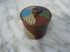 Pot couvert cloisonné d'époque 19eme Pot à the cloisonné Napoleon III