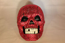Rhinestone Skull Telephone with Bling in Hot Pink Unique Design  N 301