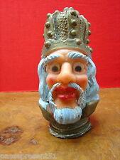 Jolie ancienne tête de marionnette : roi