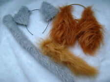 Lady And The Tramp Ears And Tail Set Faux Fur Fancy Dress Costume Unique!